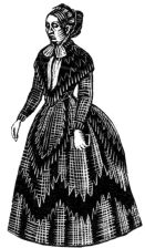 wood-engraving print: Aunt Jessie for The Runaway